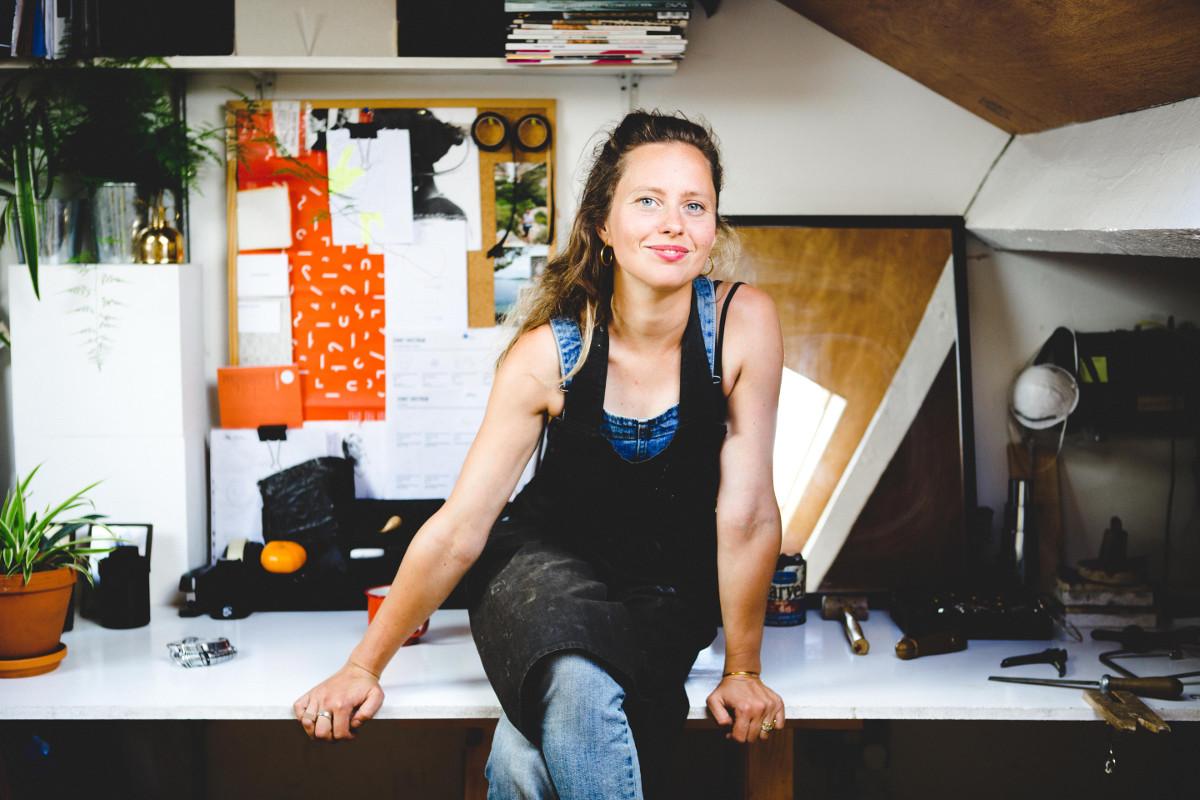 Jenny Sweetnam in her London studio